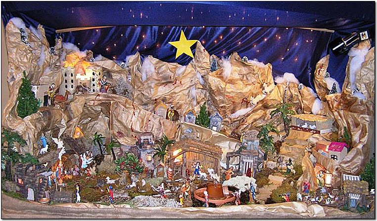 Crachese Presepio The Of Craco Society Members Frank And Anna Rinaldi Is Shown Above Word Nativity Scene Comes From Latin
