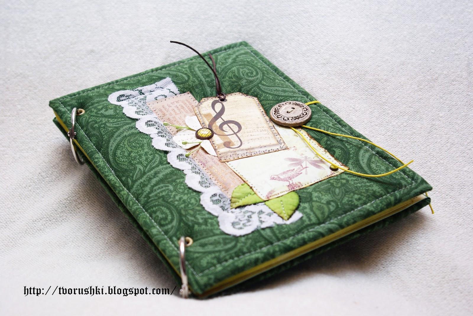 Зелёный блокнот своими руками 897