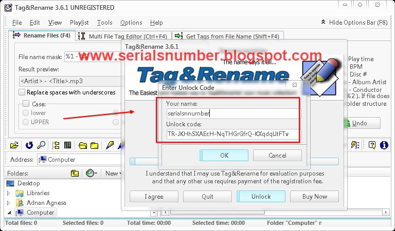 titale and registration key nad bpm