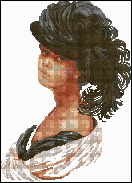 Портреты женские для вышивки