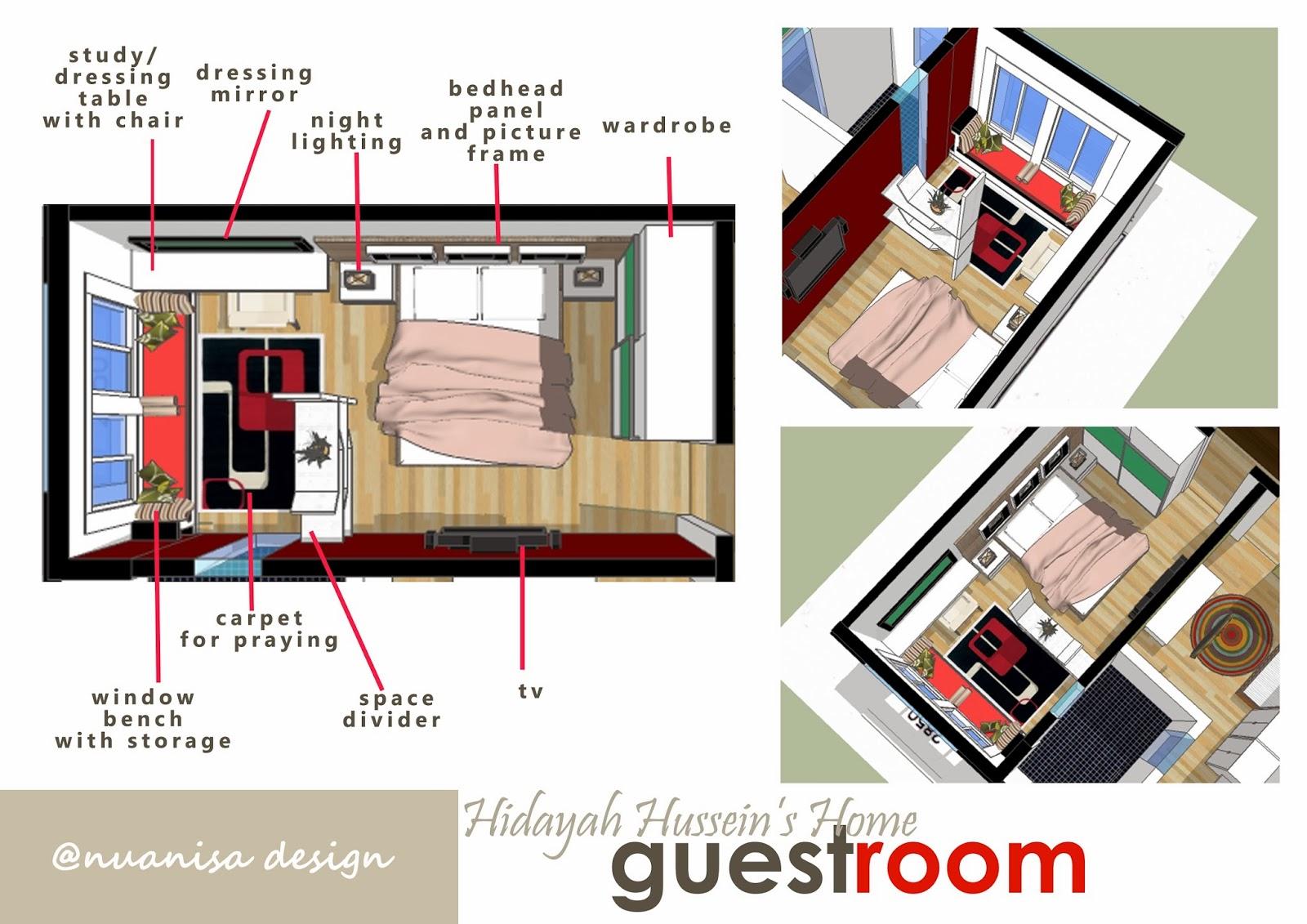 Rekabentuk Hiasan Dalaman Rumah Teres Dengan Konsep Moden Simple Dan ...