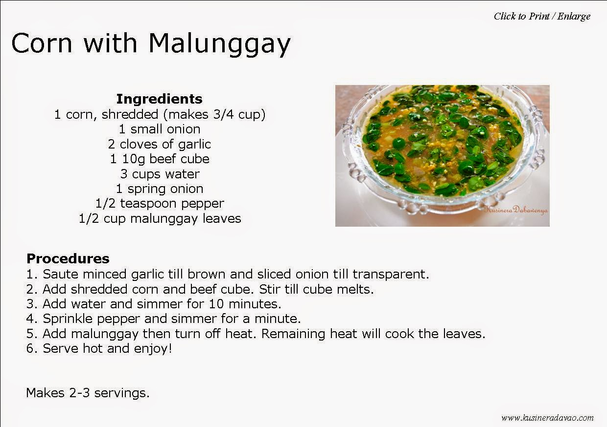 Corn with malunggay recipe kusinera davao ps did you find this post helpful please feel free to click share buttons subscribe to our mailing list like our facebook page forumfinder