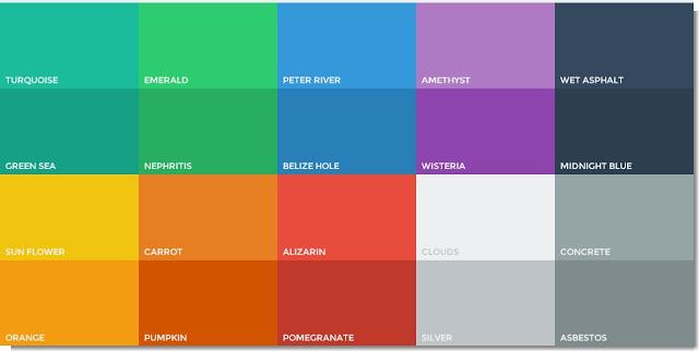 Tabel Kode Warna  Flatuicolorpicker Untuk Flat Design UI Terlengkap