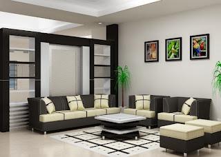 menata ruang tamu cantik gambar desain rumah