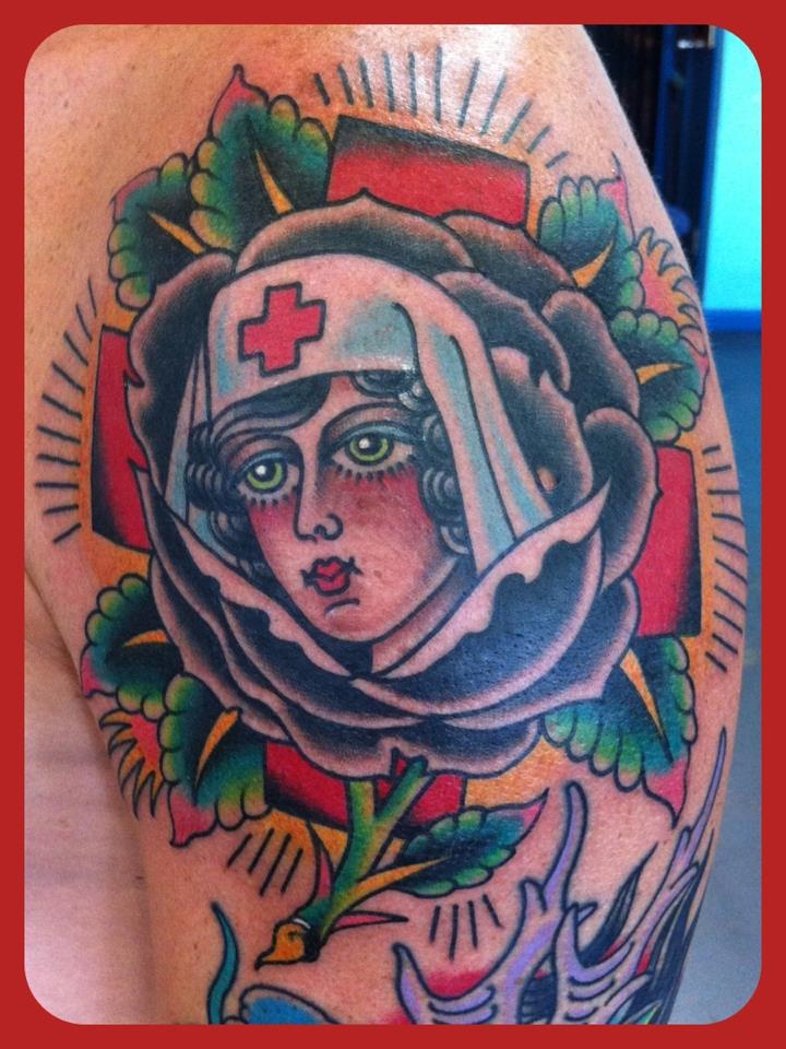 steve byrne from rock of ages tattoo shop austin texas