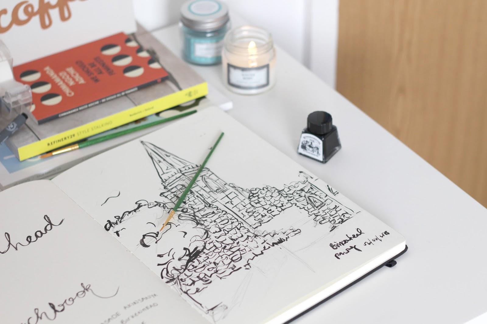 architecture student sketchbook moleskine