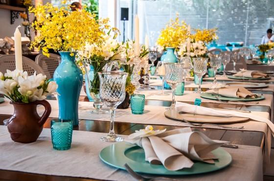 Agora fiquei noiva  Cores da decoração  Azul Tiffany