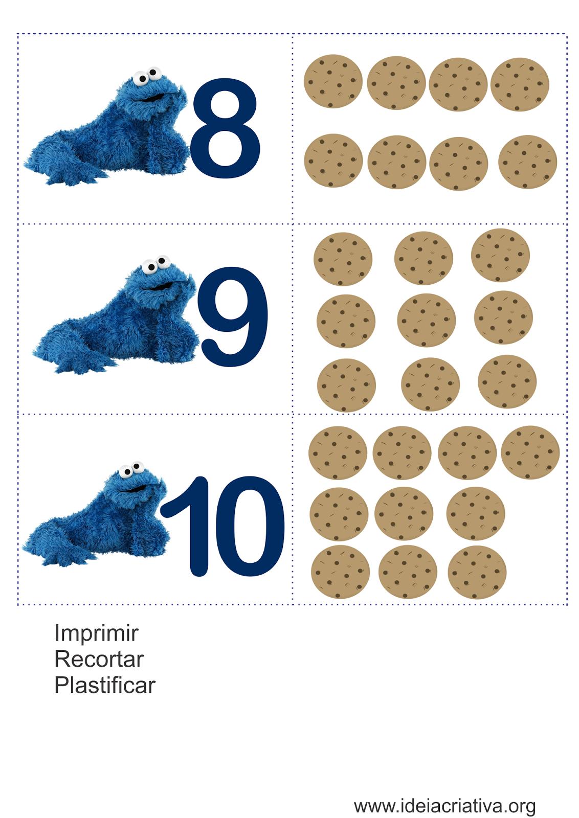 Flash Cards Cookie Monster- Sugestão de Aula Atividade
