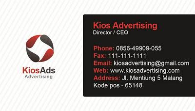 Contoh Desain ID Card Kios Advertising