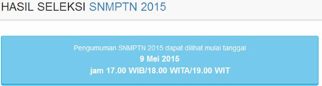Cek Pengumuman Hasil SNMPTN 2015 Disini