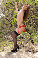 Anastasia - 16.02.2012 - Red Panties and Black Stockings - 12