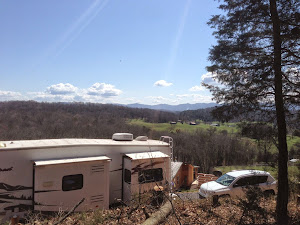 Our new view above the RV