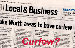 Each Monday is Post's 'special focus' on little 6 sq. mile Lake Worth. Click on 'Curfew?: