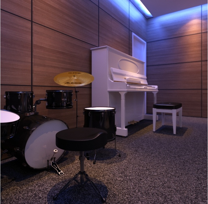 Music room design ideas luxury in the house by archcg for Room decorating ideas music