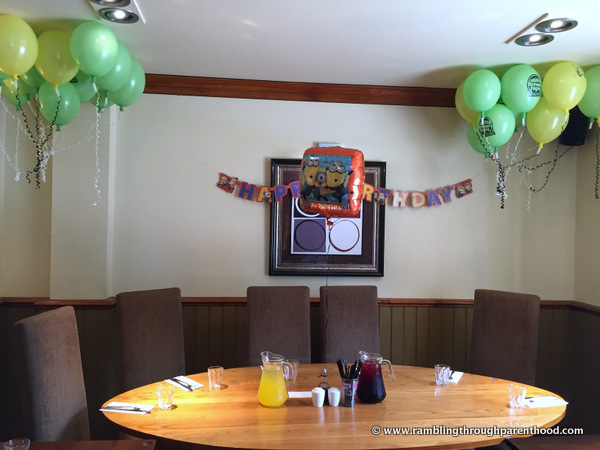 All set for our Brewers Fayre Birthday Party