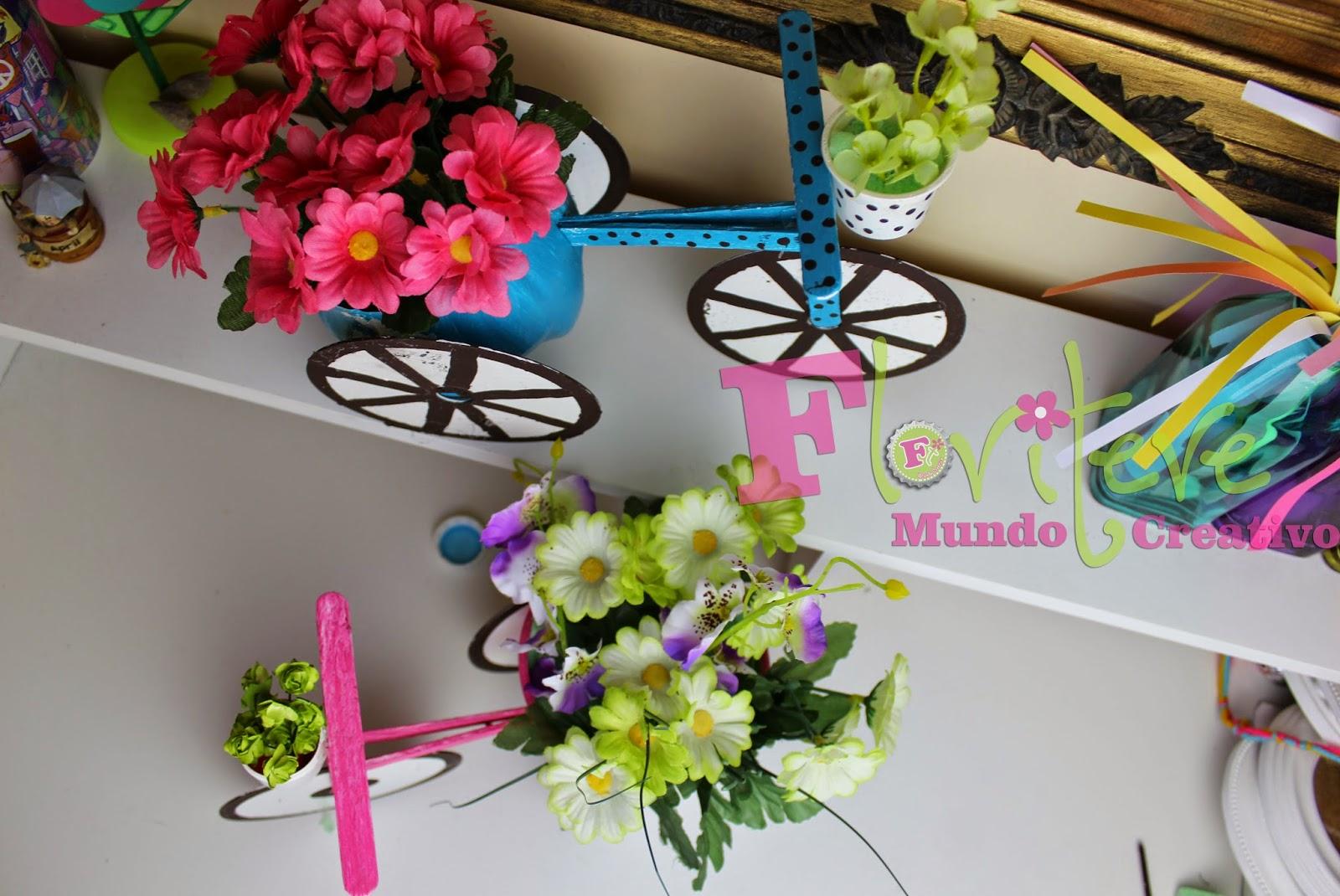 El blog de floritere florero en forma de bicicleta for Decoracion 10 de mayo