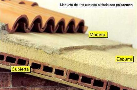 El maestro de obras xavier valderas la aislante espuma de for Aislante para tejados