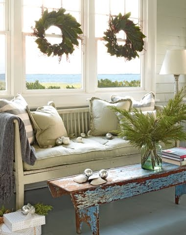 easy Christmas decorations in living room