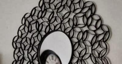 diy un miroir en rouleaux de pq initiales gg. Black Bedroom Furniture Sets. Home Design Ideas