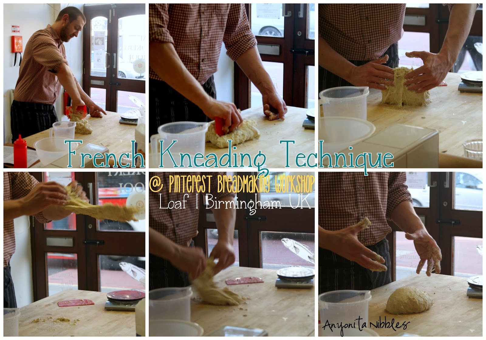 Andy from Loaf demonstrates a French kneading technique