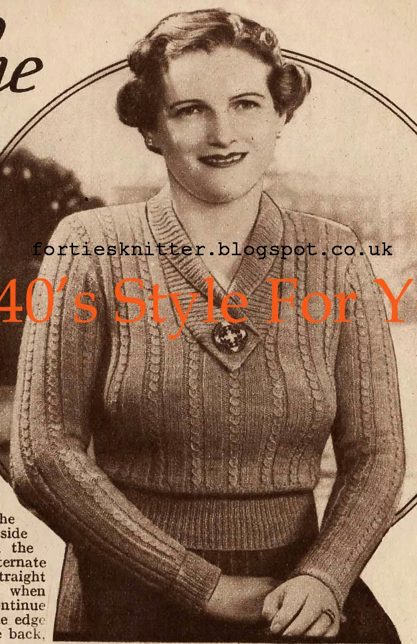 1930's Knitting - A Jumper For The Larger Figure free pattern
