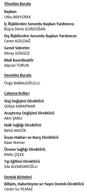Ufuk Üniversitesi Tıp Öğrencileri Birliği 2017- 2018
