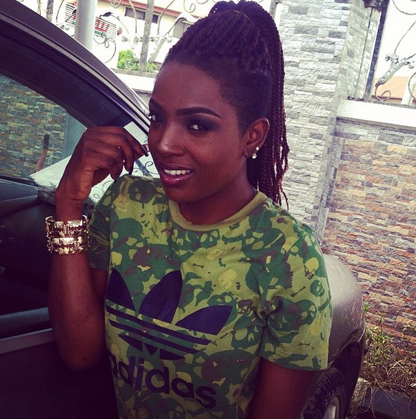 Annie Idibia looking super-sexy in hot shorts(Photos)