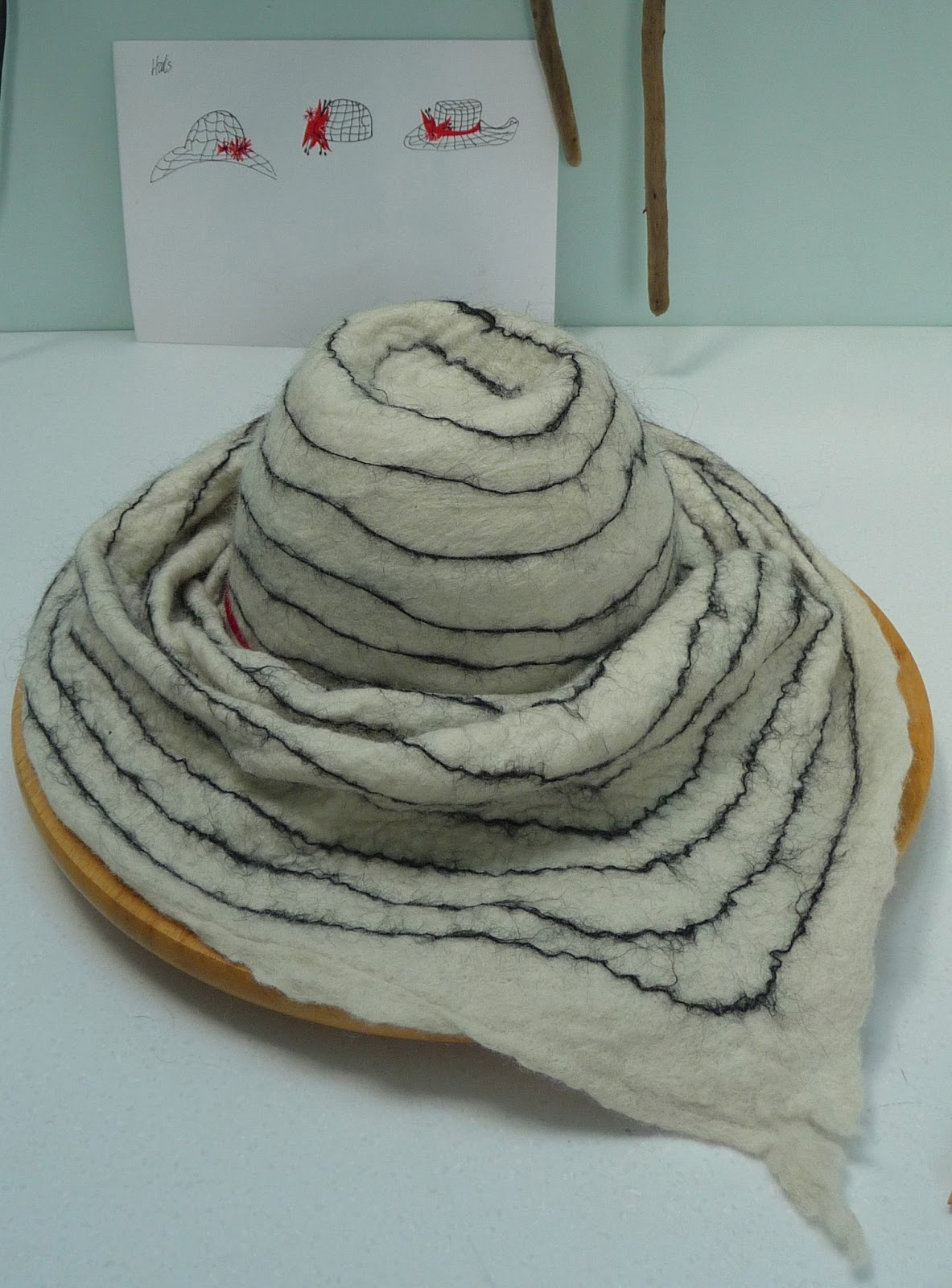 how to make felt from sheep fleece