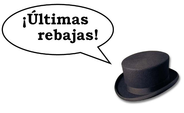 sombrero que habla de rebajas