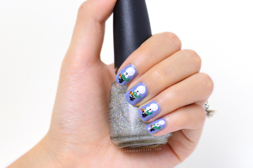 Manicure Monday: Snowman Nail Art - From Head To Toe