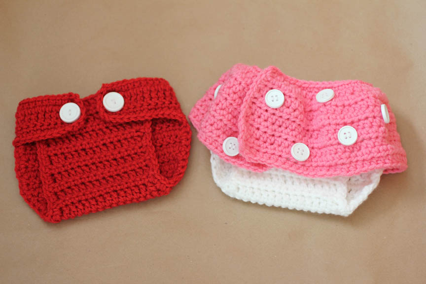 Mickey and Minnie Inspired Crochet Diaper Covers - Repeat Crafter Me