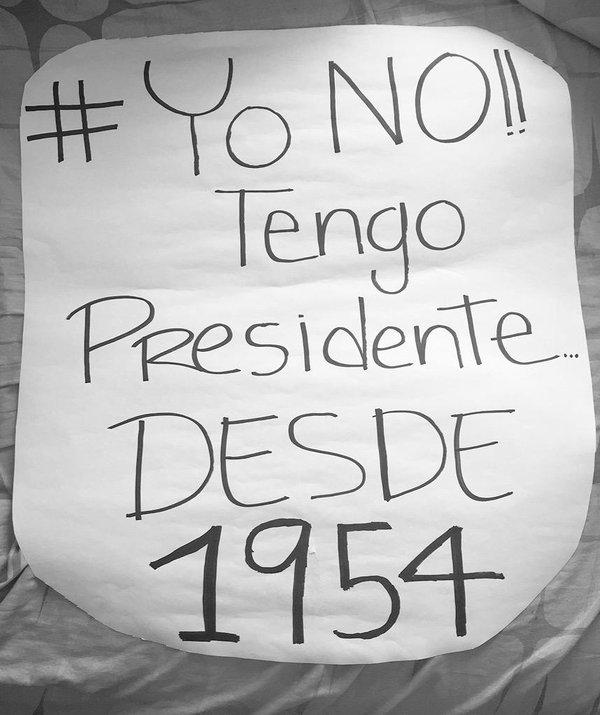 #YoNoTengoDiputados/Presidente/No A La Corrupción