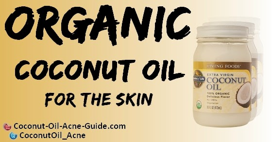 Organic coconut oil for the skin