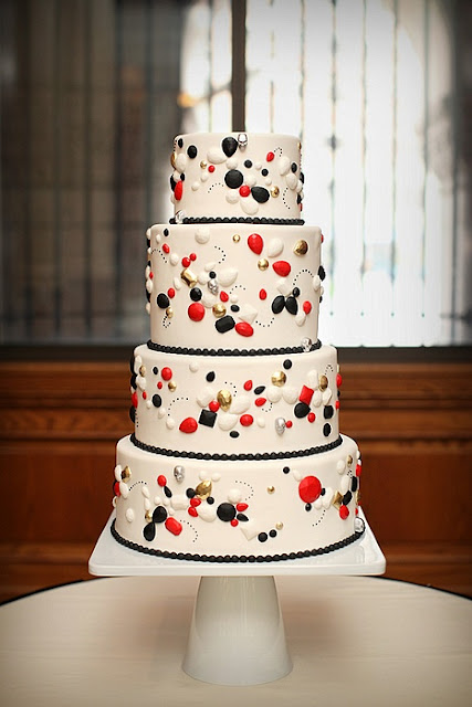 St. Paul Wedding Cake With Jewels and Skulls