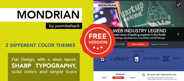 Mondrian - Free Joomla! Template