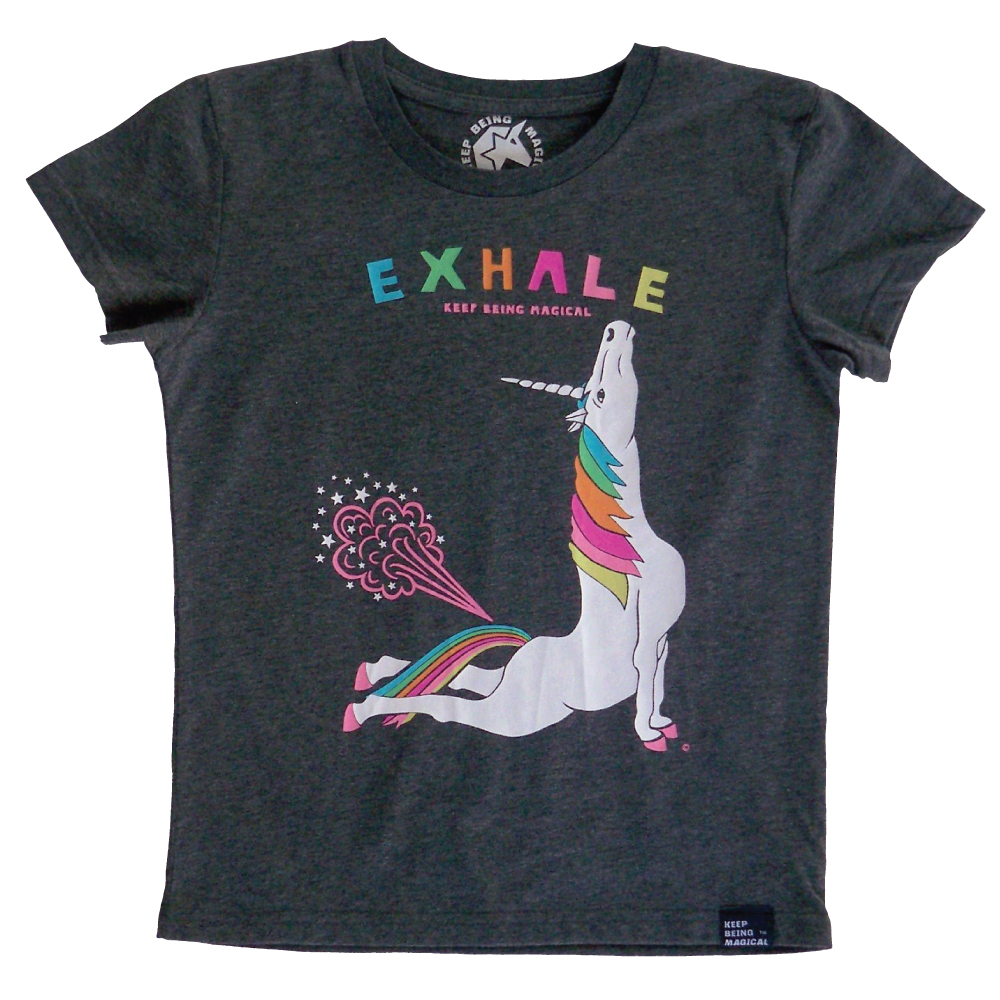 Yoga Unicon Cobra Pose Exhale Youth Unisex T-shirt