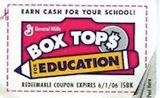 "We're a ""Box Tops for Education"" school"