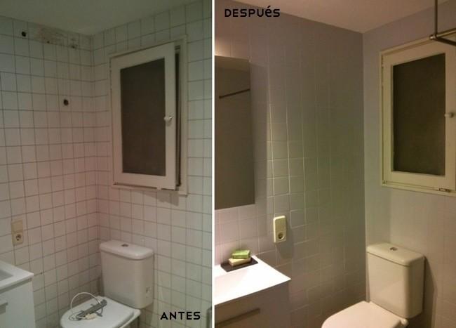 Me late chocolate potente limpiador de azulejos - Pintar azulejos de bano antes y despues ...