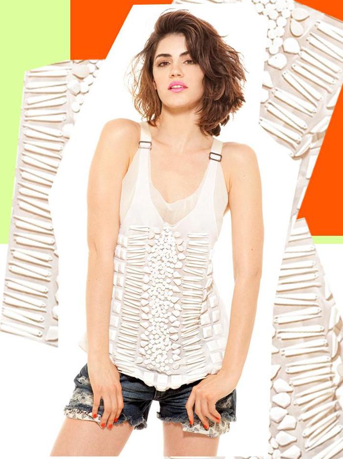 blusa de fiesta Maria Vazquez primavera verano 2013