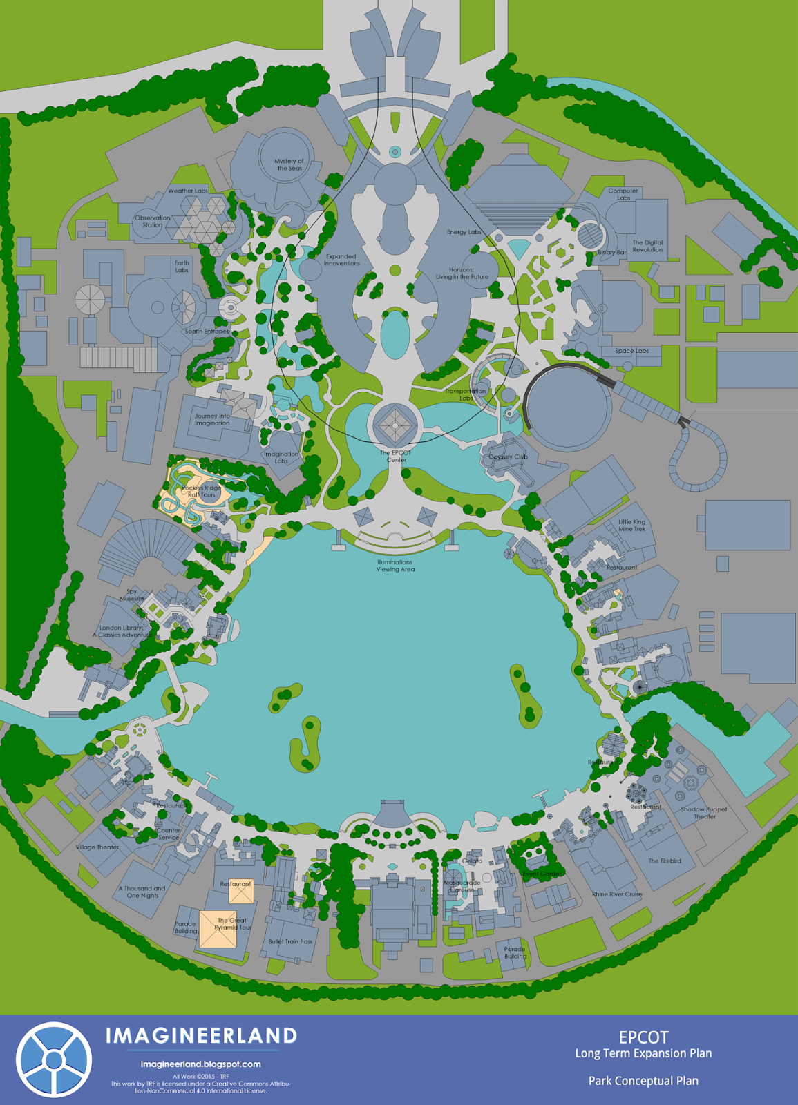 Imagineerland EPCOT Park Plan