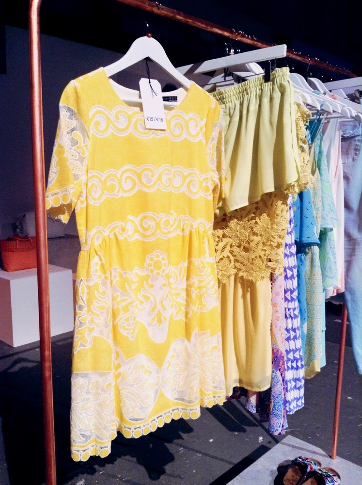 primark ss15 press day yellow lace dress