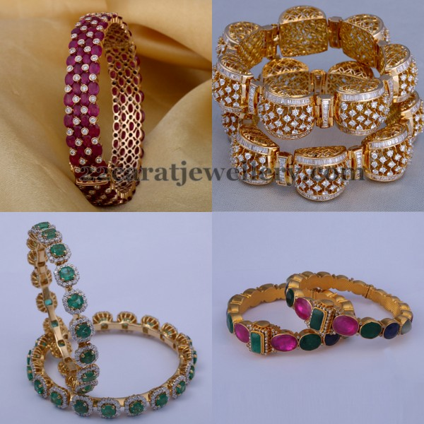 Diamond Bangles by Vasundhara Jewellers
