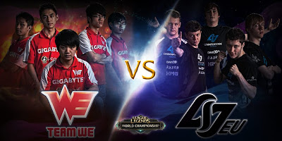 Team WE vs. Counter Logic Gaming EU quarterfinal match