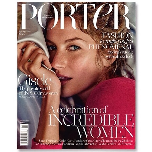 FASHION - Gisele Bündchen  / Revista Porter