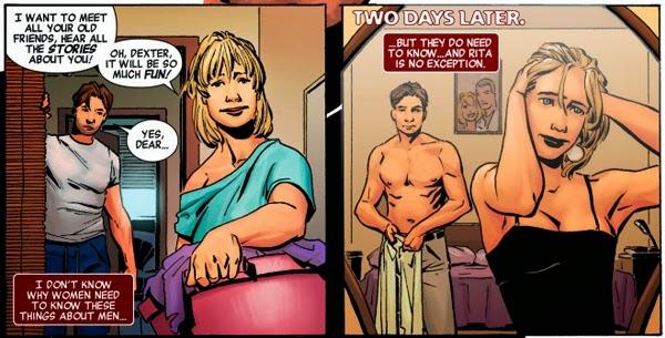"""Dexter y Rita en el cómic """"Dexter"""" publicado por Marvel / Planeta DeAgostini Cómics"""