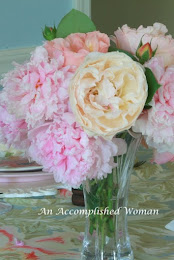 A Peony and Rose Table