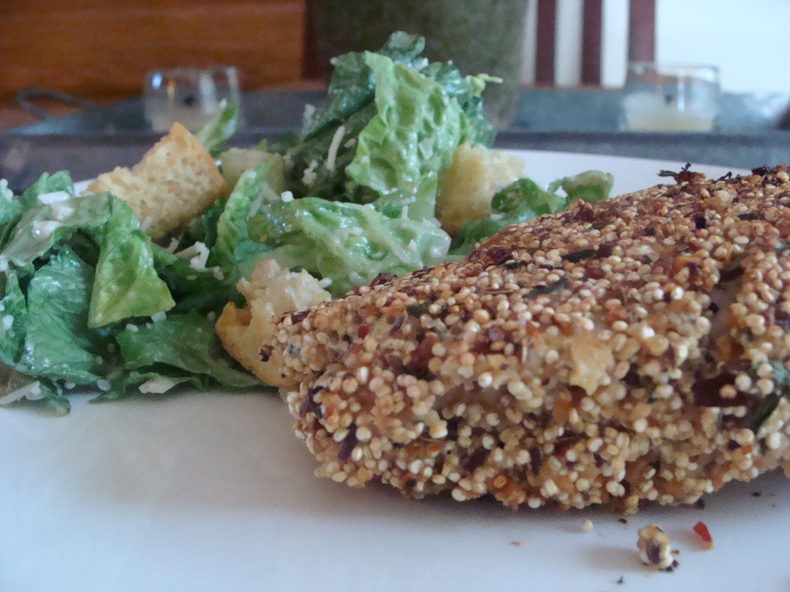 Inside Heather's Home: Quinoa Crusted Chicken