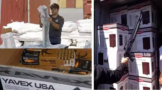 Συνοριακοί Φρουροί βρήκαν 52 τόνους όπλων και πυρομαχικών σε 14 κοντέινερς της Conex καμουφλαρισμένα σαν «έπιπλα» για μουσουλμάνους μετανάστες.