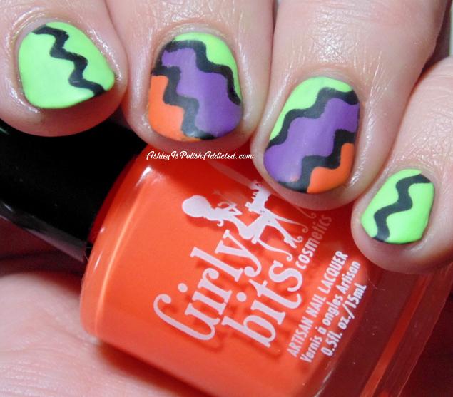 Ashley is PolishAddicted: 40 Great Nail Art Ideas: Orange, Purple ...