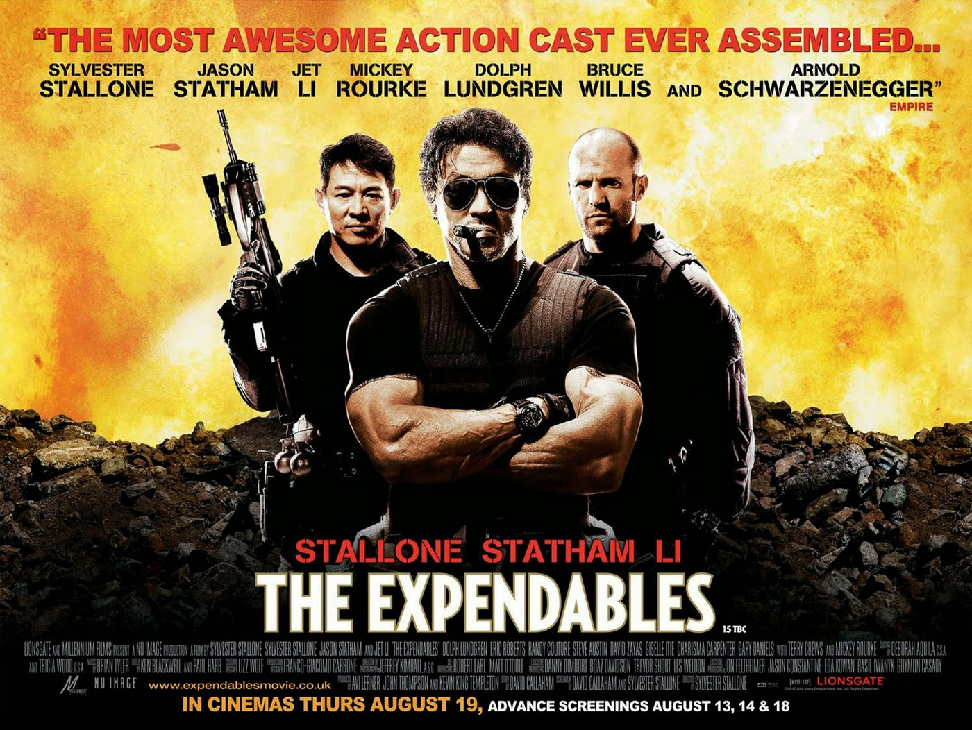 Download The Expendables (2010) Bluray 720p